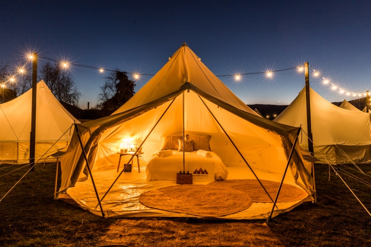 Glamping packages are available for the Huon Valley Mid-Winter Festival 2019. Contact Glamping Tasmania for details. Picture courtesy Natalie Mendham