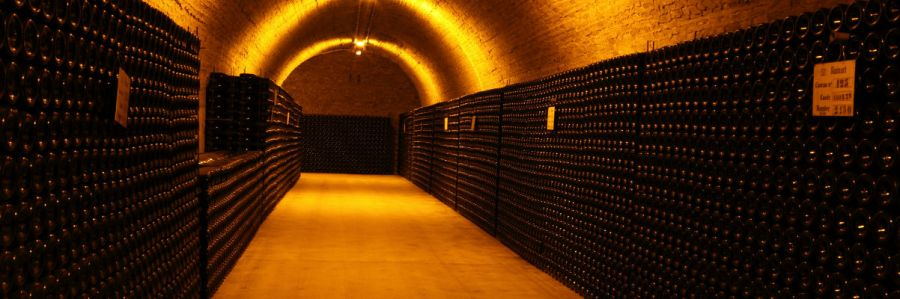 A champagne cellar in champagne France