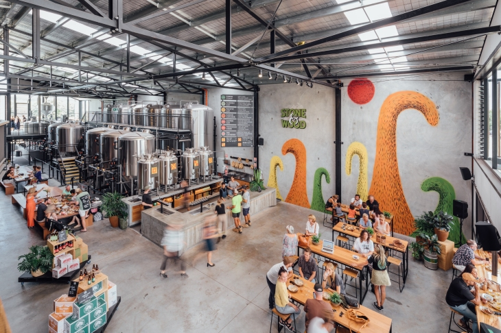 Stone & Wood Brewing Company opened its new Byron Bay brewery in late 2019